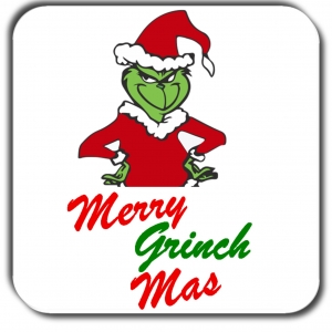 Merry Grinch Mas coaster